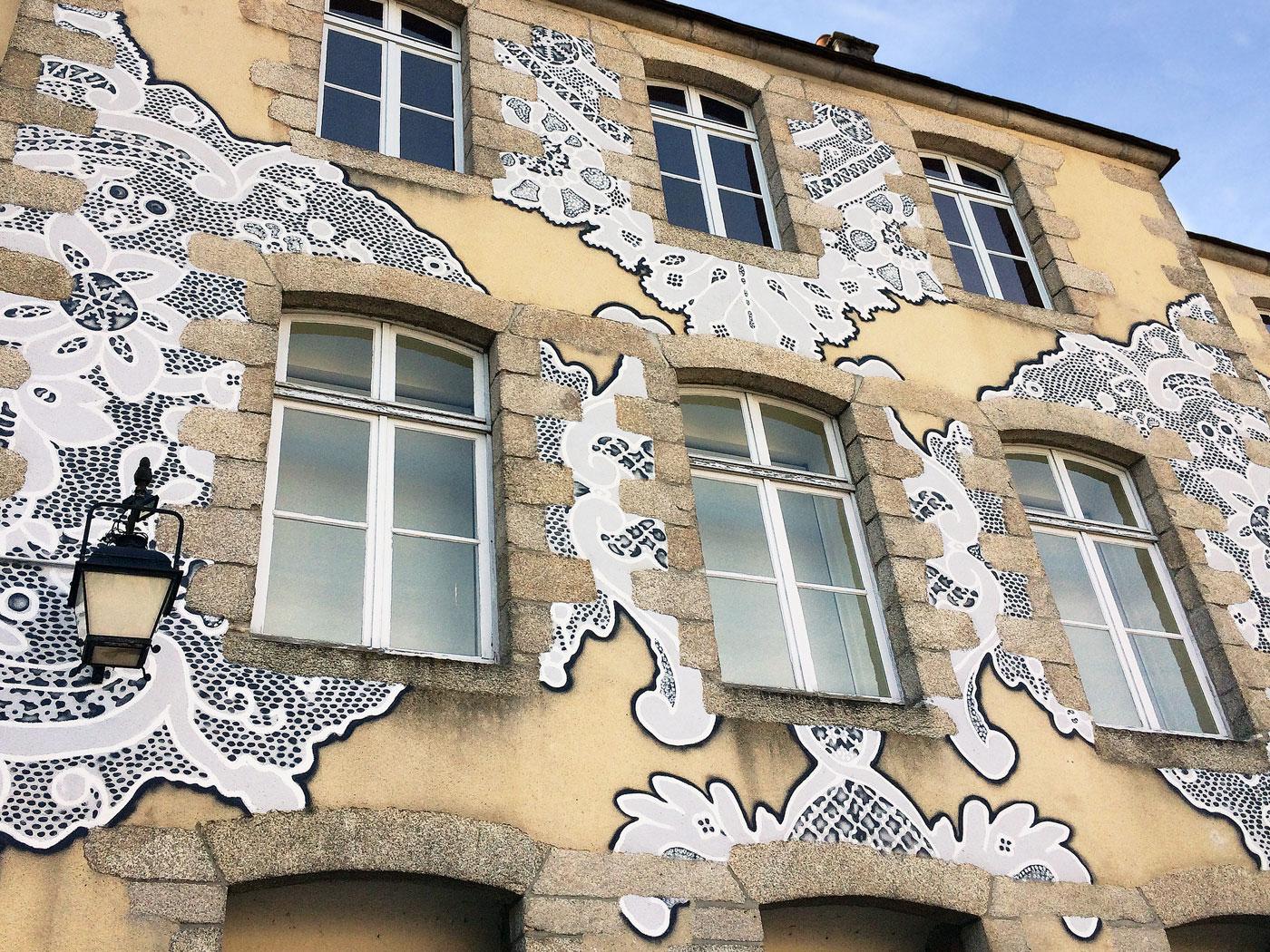 NeSpoon Street Art Musée des Beaux-arts et de la Dentelle