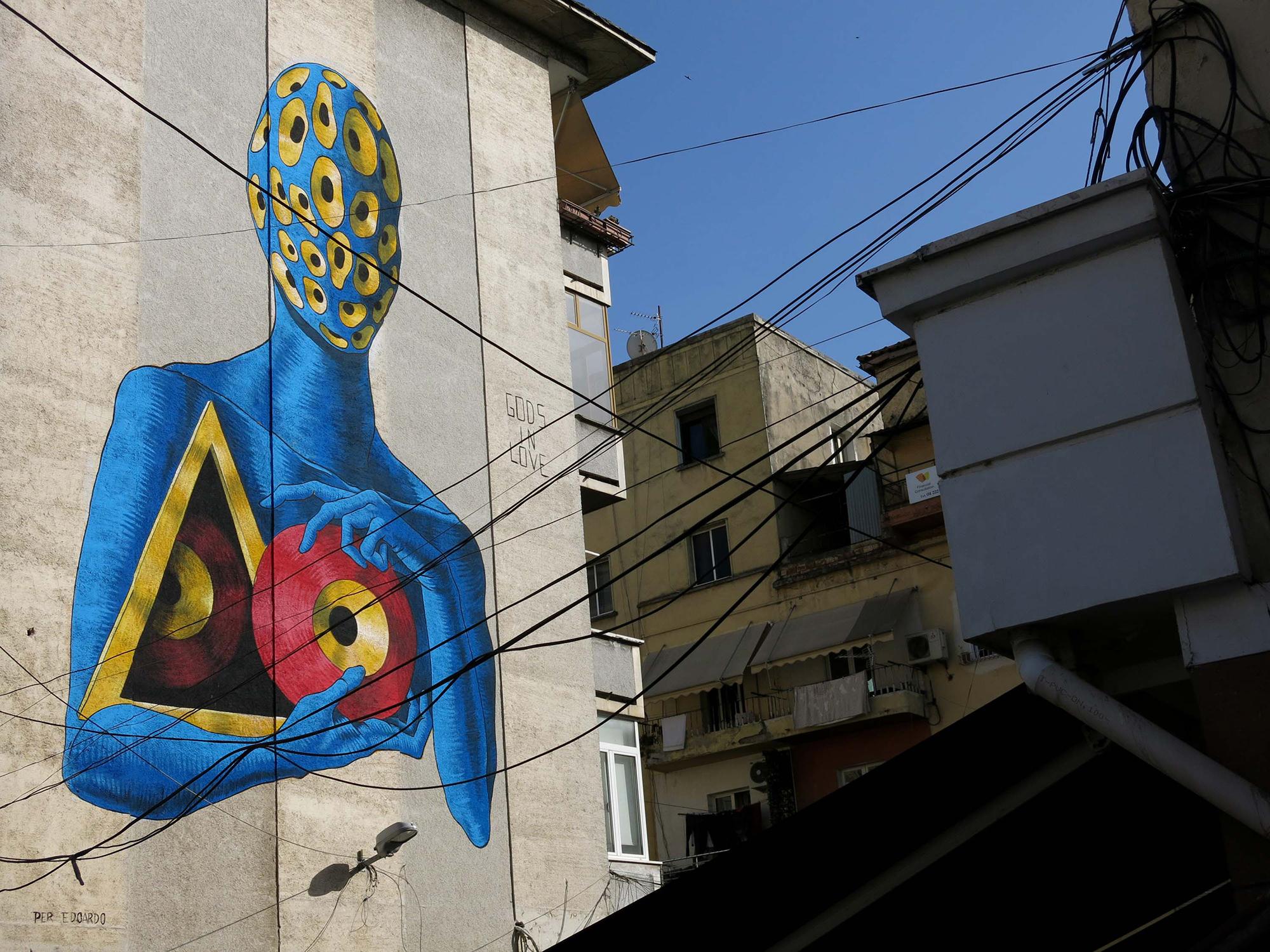 Gods in Love Tirana Street Art