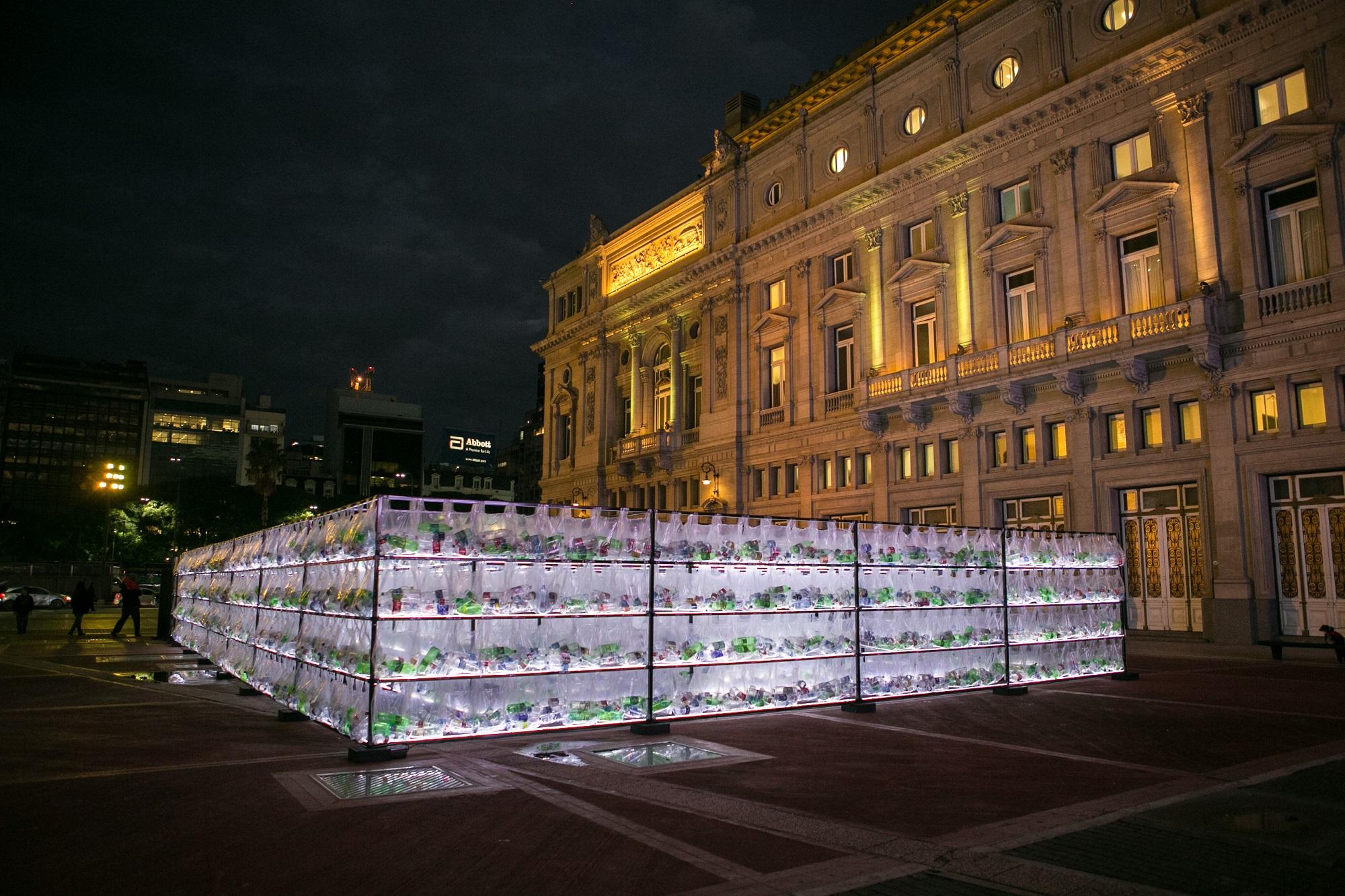 Luzinterruptus Plastic Waste Labyrinth Buenos Aires