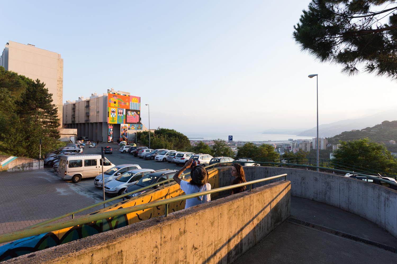Geometricbang murale Genova Le lavatrici Lavart
