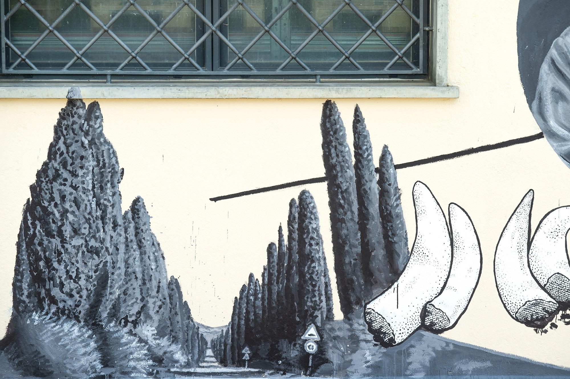 ozmo murale bolgheri le macchiole
