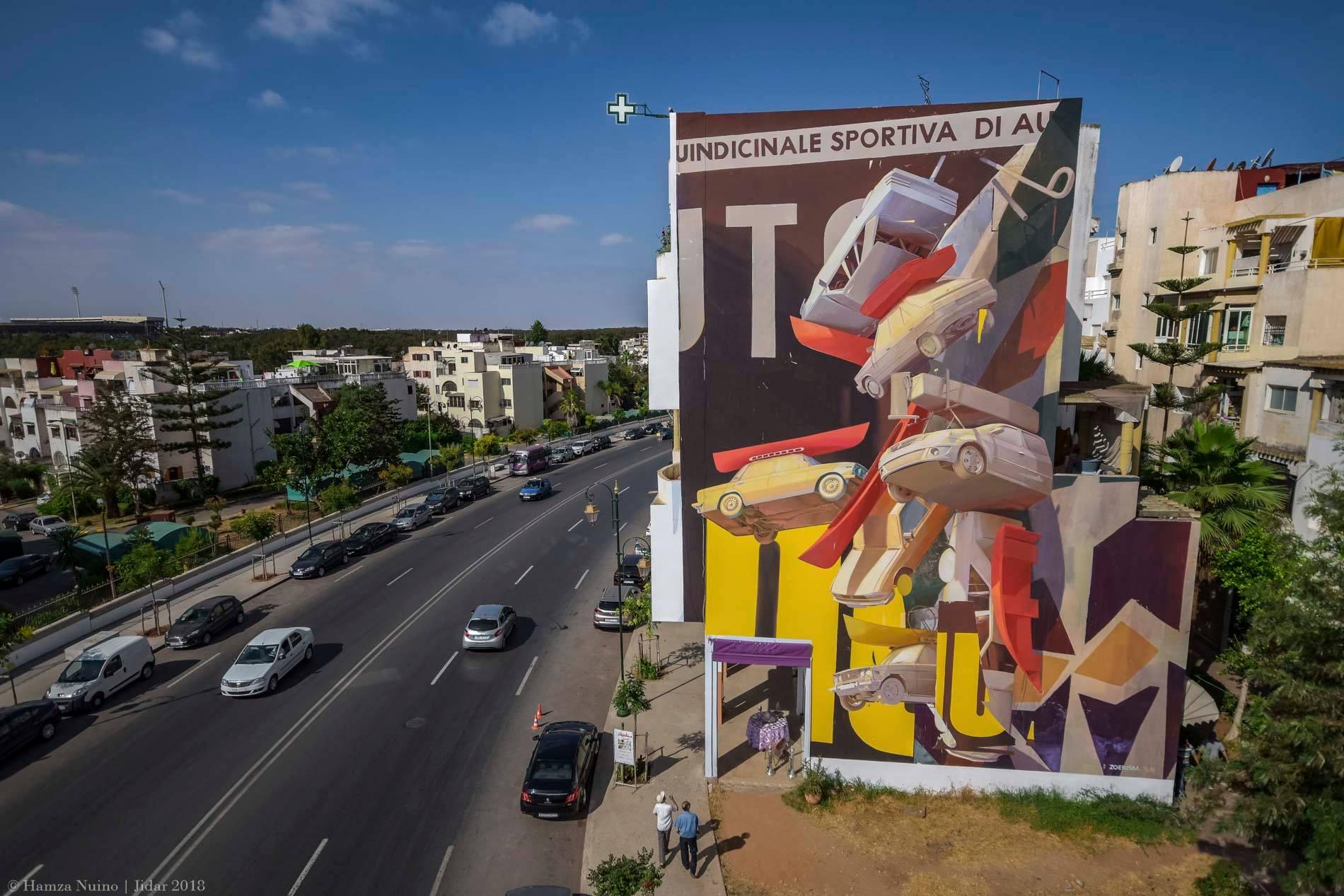 Zoer Rabat street art Jidar
