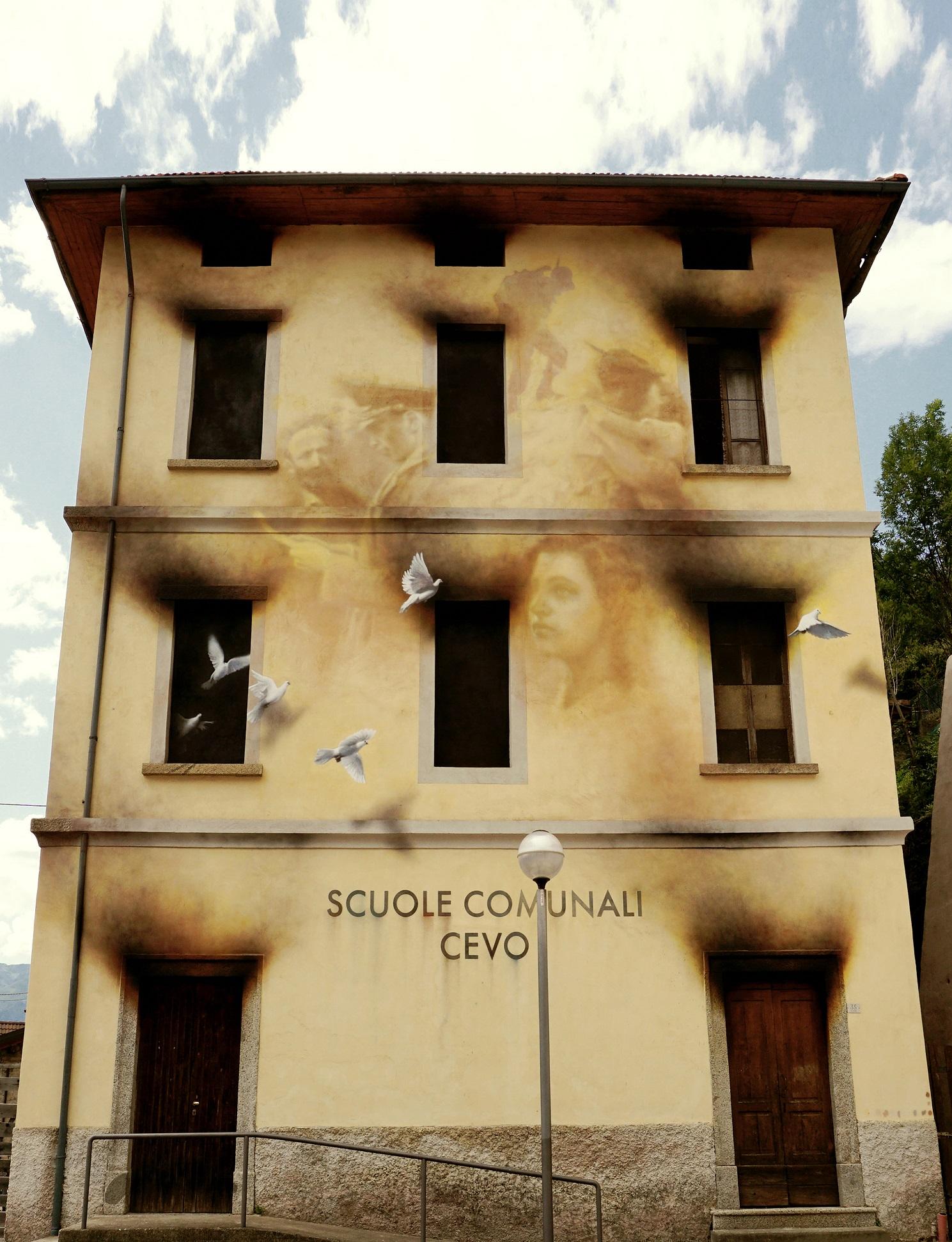 Eron Street Art Cevo Valle Camonica Wall in Art