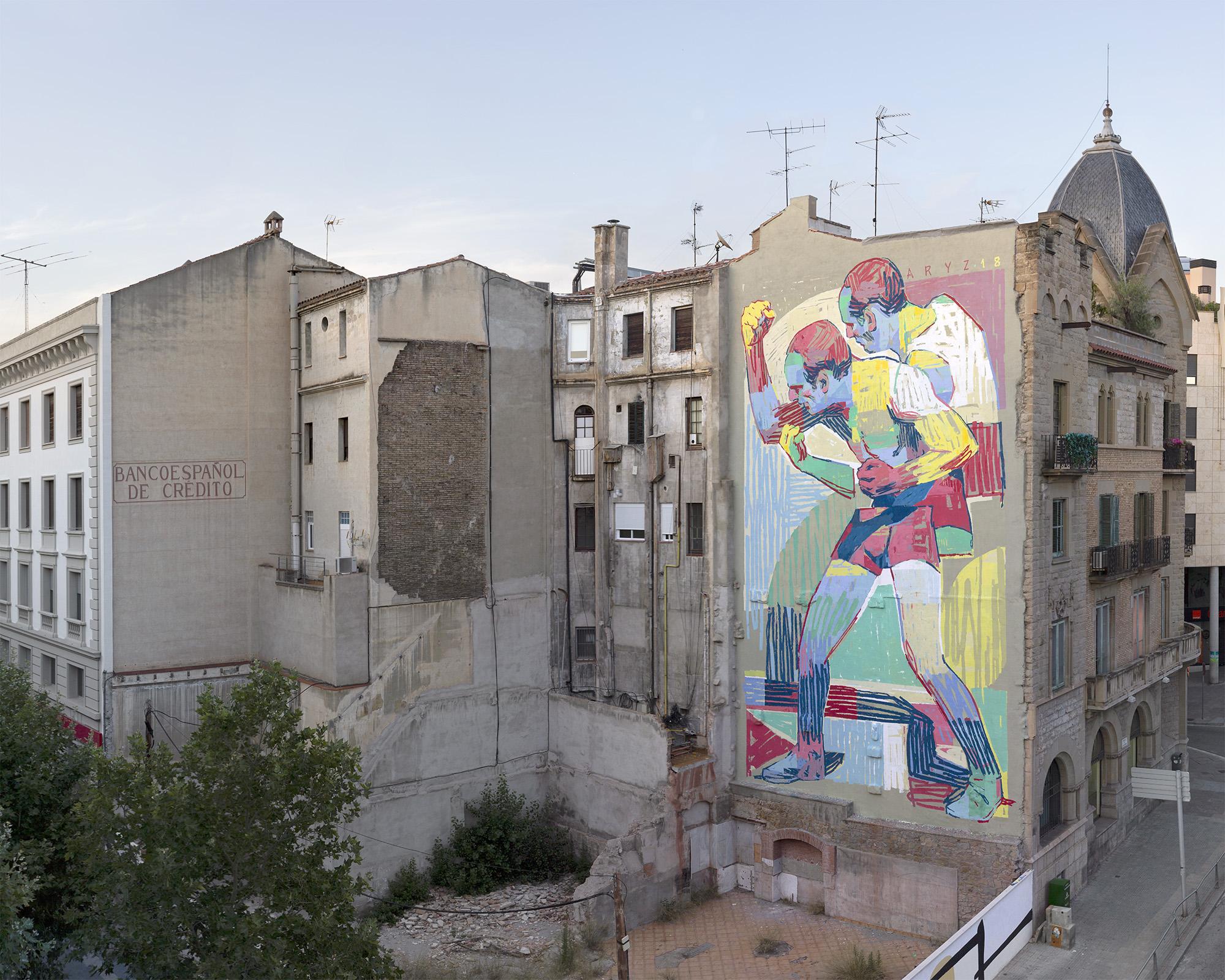 Aryz street art Manresa Linz