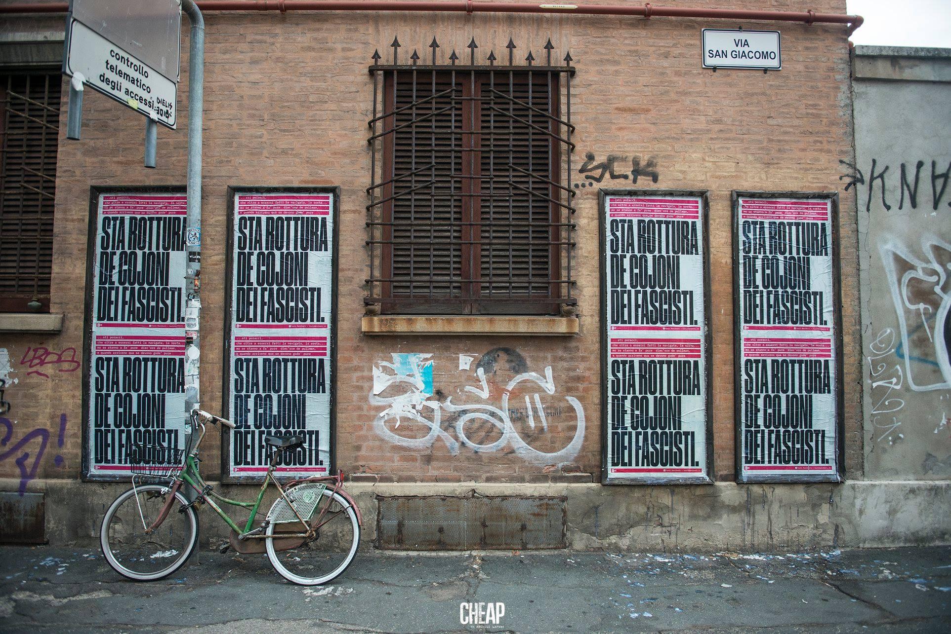 Sta rottura de cojoni dei fascisti Bologna Cheap Poster