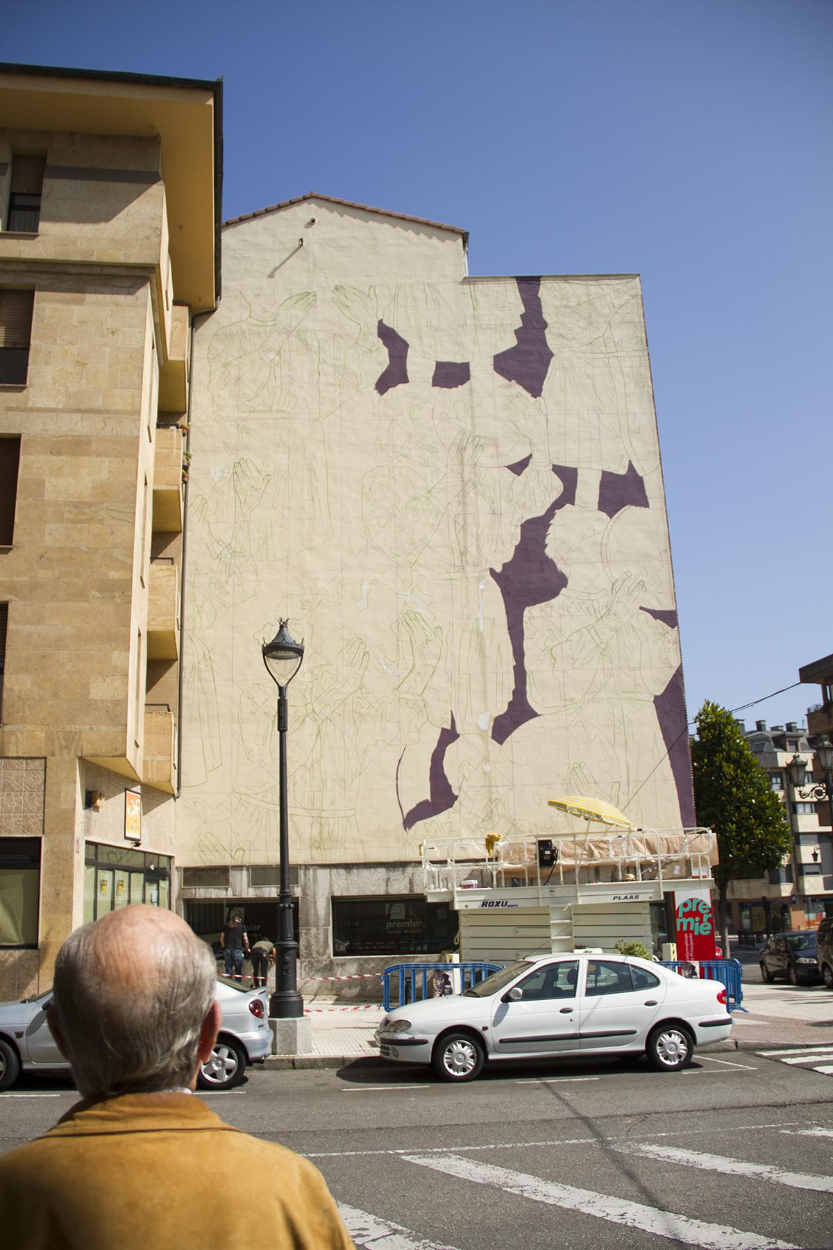 Colectivo Licuado Street Art Oviedo Parees Festival