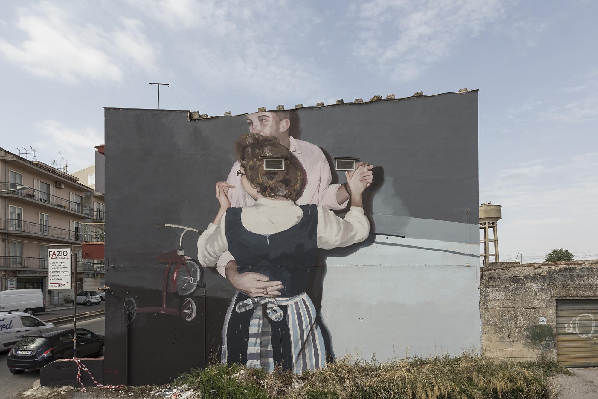 Mohamed L'Ghacham Street Art Ragusa FestiWall
