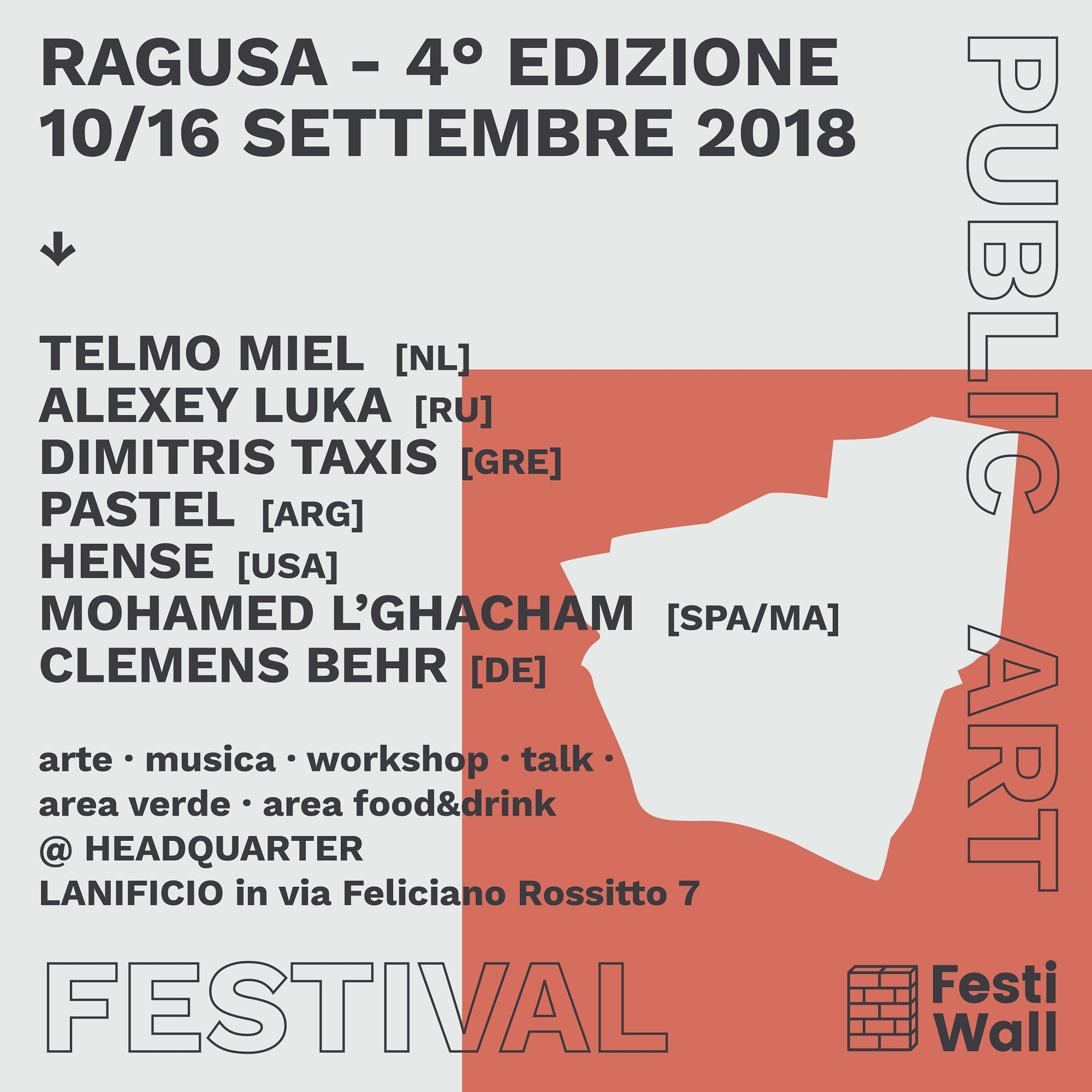 Ragusa FestiWall 2018 - Public Art Festival 2018