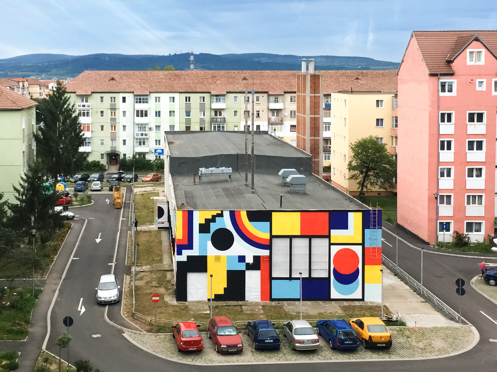 Sebastian Pren street art mural Sibiu Romania