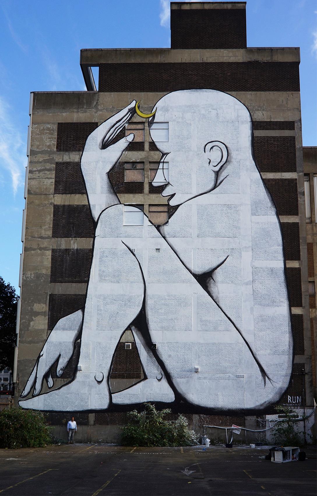 RUN Giacomo Bufarini Street Art Croydon London