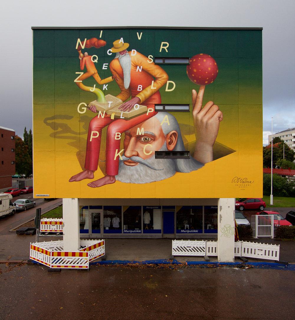 Waone Interesni Kazki Street Art Upeart Festival Kotka Finland