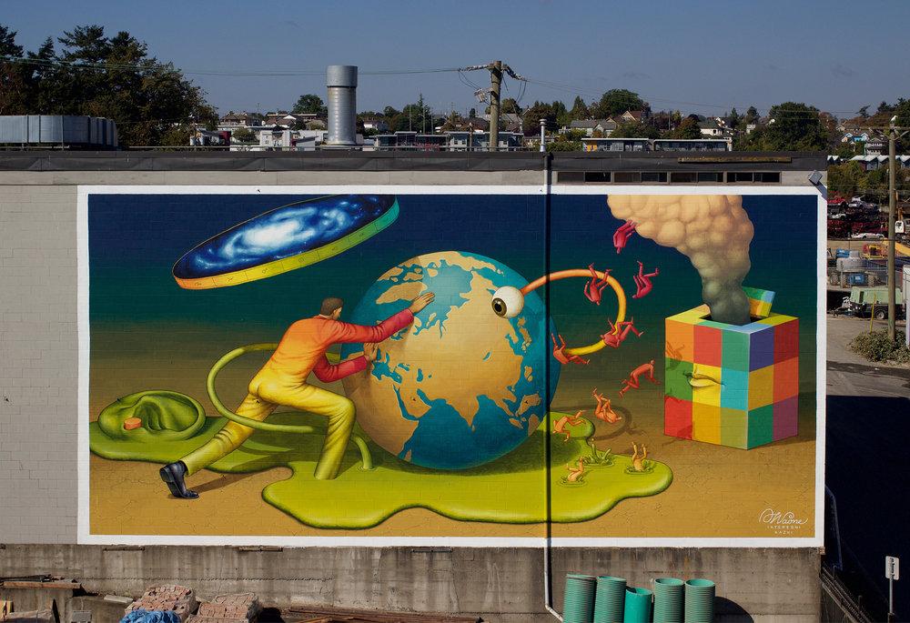 Waone Interesni Kazki Victoria Canada Street Art