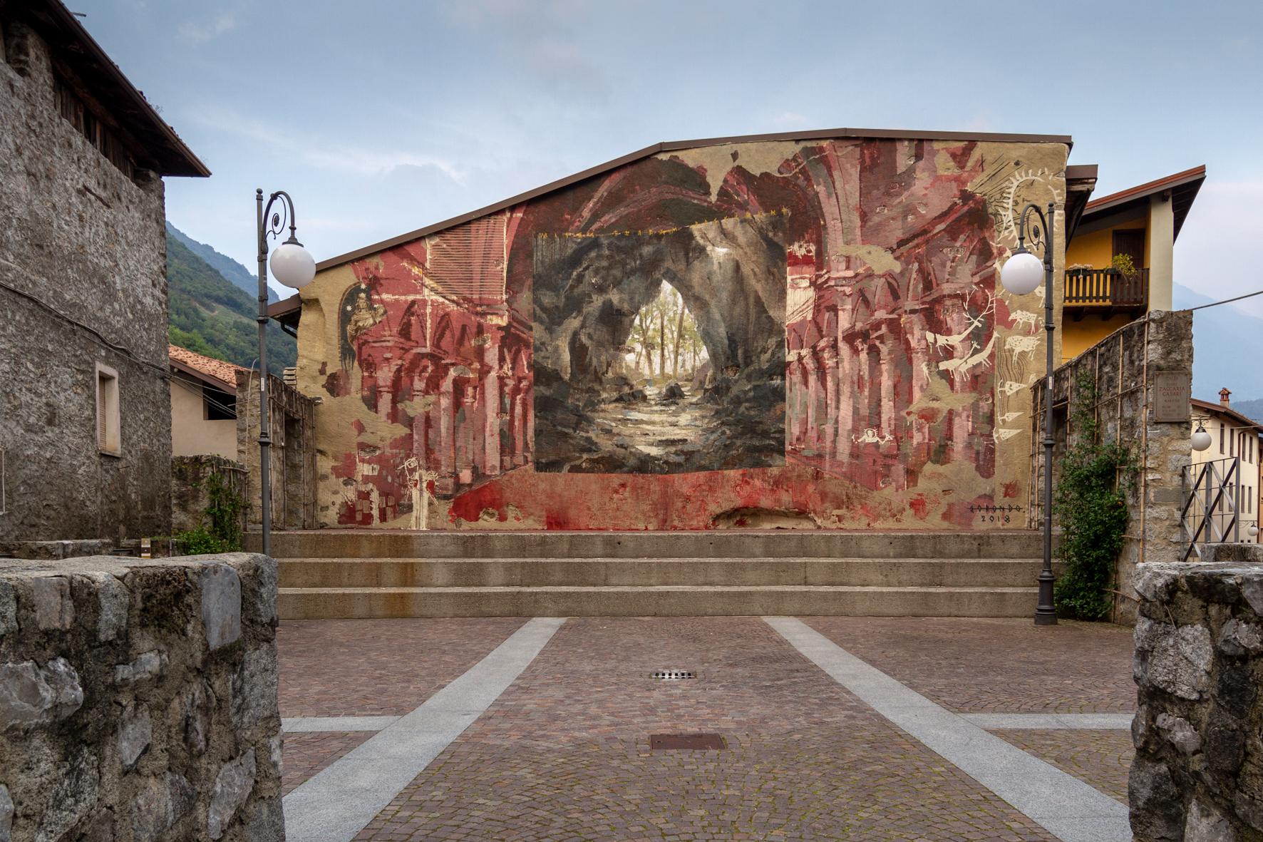 Borondo Malegno Valle Camonica Wall in Art
