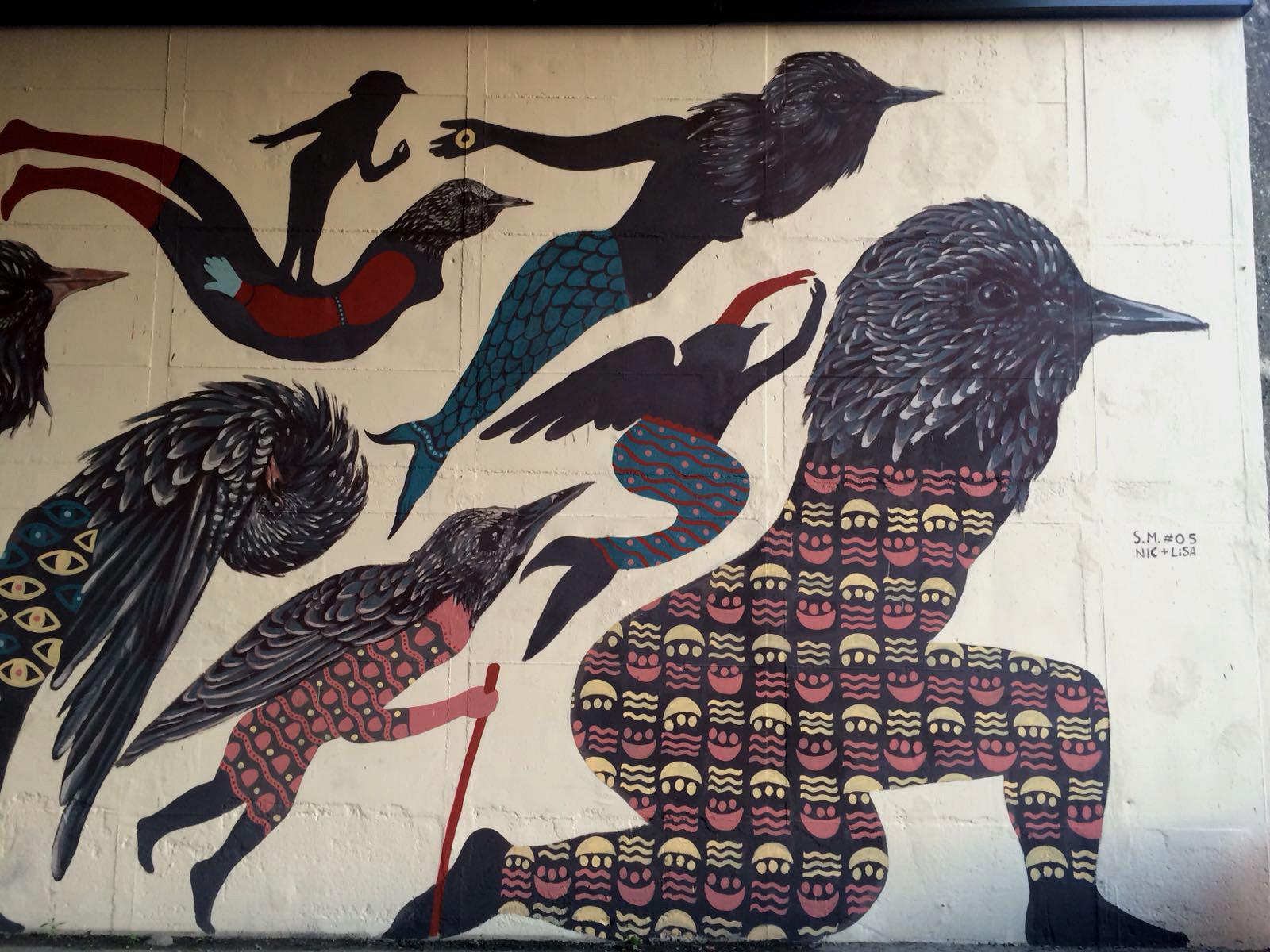 Nicola Alessandrini Lisa Gelli Street Art Sansepolcro Specie Migranti