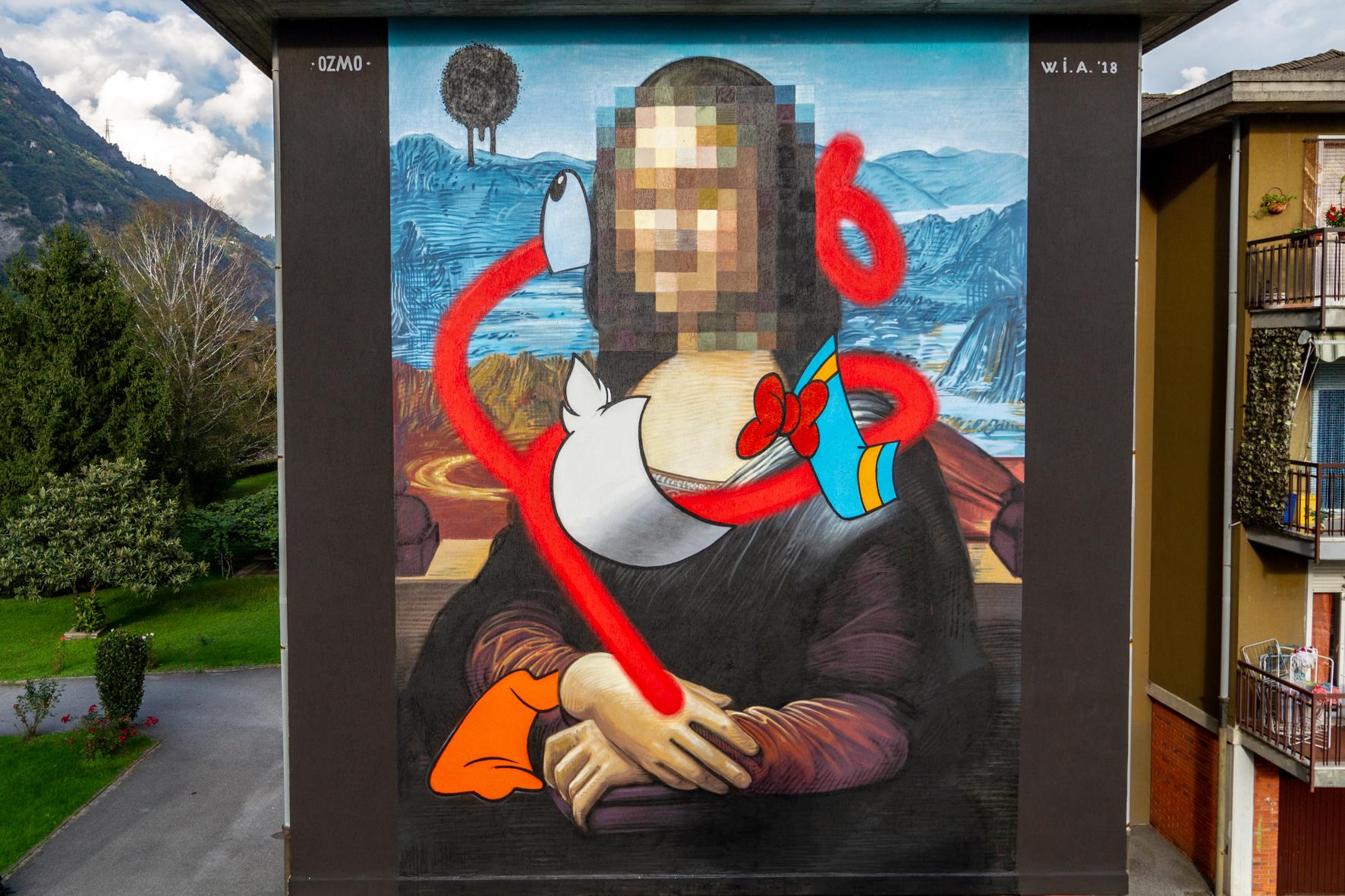 Ozmo street art wall in art Angone Darfo Boario Terme