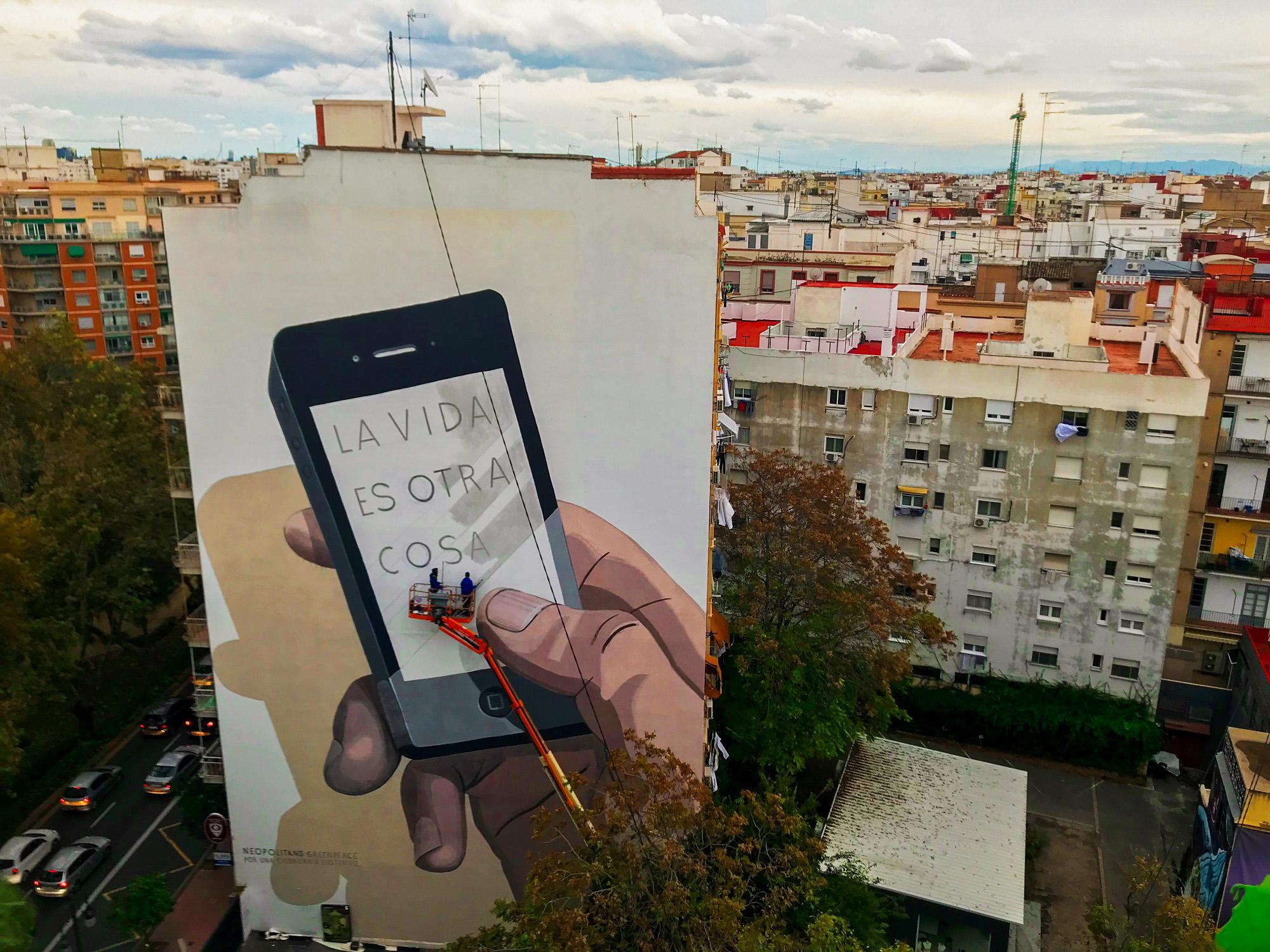 La vida es otra cosa Escif Valencia Greenpeace