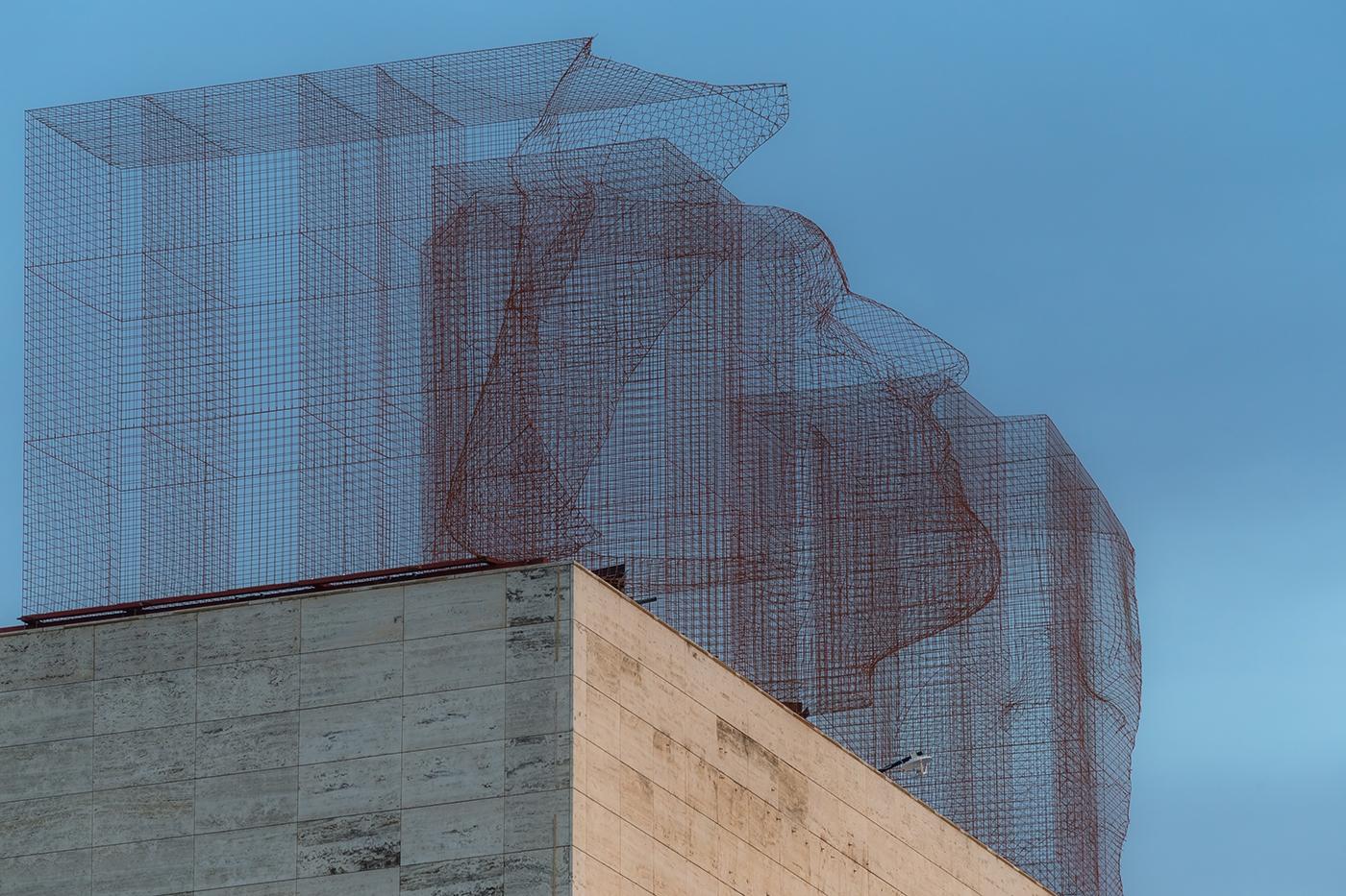 Edoardo Tresoldi installation L'Illa Diagonal Barcelona